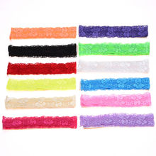 12pcs Fashion Hair Accessories hair headbands hair ribbon Vintage headbands Hair Elastic Band headband lace Band Head wrap(China)