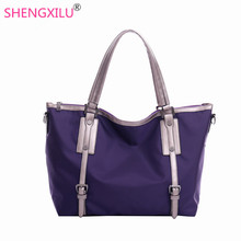 Shengxilu nylon big women shoulder bag top quality brand blue women bag fashion girls handbags waterproof ladies crossbody bag(China)