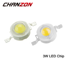 CHANZON 10pcs/pack High Power 3W LED Chip Natural Cool Warm White Red Blue Green Yellow Light SMD COB Intergrated for Spotlight
