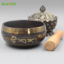 9.5Cm Yoga Tibetan Singing Bowl Himalayan Hand Hammered Chakra Meditation Religion Belief Buddhist supplies Home Decoration