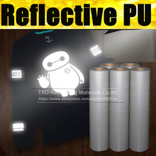 0.5x25m per roll reflective transfer vinyl for fabric with high quality, transfer reflective pu film with free shipping