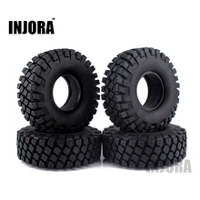 "4PCS 114MM 1.9"" Rubber Rocks Tyres / Wheel Tires for 1:10 RC Rock Crawler Axial SCX10 90046 RC4WD D90 D110 TF2 Traxxas TRX-4"