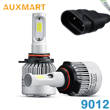 Auxmart 9012 COB Chips LED Headlight Bulb Single Beam 72w Auto Head Lamp Bulb 12V 24V All-In-One For Honda Toyota VW Ford Jeep