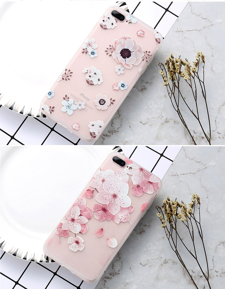 For iPhone 6 6S iPhone 7 Plus Soft TPU Silicon Phone Cover (11)