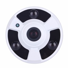 3MP AHD-Q /4MP AHD-G High Resolution  5MP 1.7mm Lens Fish Eye 360Degree Wide Angle 3pcs Powerful Array Panoramic AHD Camera