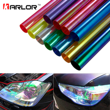 30cm*150cm Car Headlight Fog Light Taillight Tint Reflective Chameleon Vinyl Films Sheet Auto Lamp Light Sticker Car Styling(China)