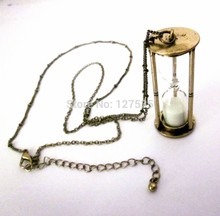 fashion jewelry accessories vintage hourglass big pendant chain necklace