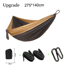 High Quality 2 People Portable Parachute Hammock Camping Survival Garden Flyknit Hunting Leisure Hamac Travel Double Hammocks