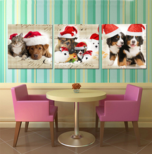 Canvas Painting 3 Piece Animal Painting Wall Art Picture Christmas Home Decoration Children Room Canvas Prints No Frame HY71