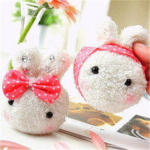 Korean Fashion Cute Lovers Rabbit Plush Toys Bunny Rabbits Soft Stuffed Dolls Bag Phone Key Pendants 30pcs Mixed Styles