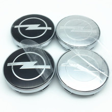 4pcs 56mm 60mm 65mm car Wheel Center Hub Cap Badge 3d sticker for Astra Mokka Insignia Zafira Corsa Tigra Dust-proof covers logo(China)