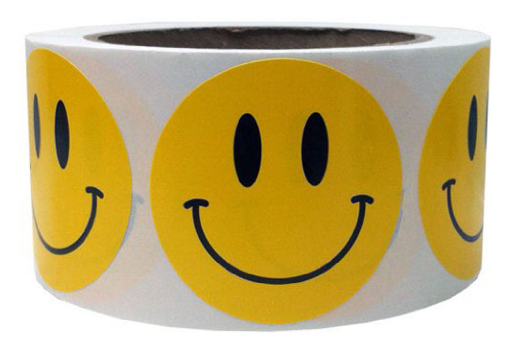 Yellow Smiley Face Happy Stickers 2 Inch Round Circle Teacher Labels 500 Total Smiley Stickers<br><br>Aliexpress