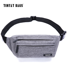 TINYAT Men Male Waist Bag Super Light Belt Pack Bag New Adjustable Shoulder Fanny Pack Phone Coin Bag Travel Pack Bags T251(China)