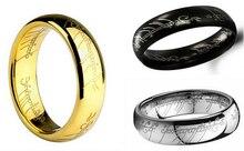 Мода ювелирные изделия золото/серебро/черный titanium стали шарм кольцо властелин рин gs для мужчин и женщин
