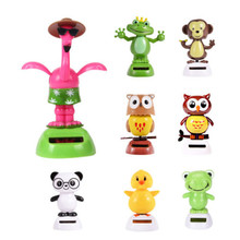 Adorable Cute New Hot Solar Powered Dancing Animal Swinging Animated Bobble Dancer Toy Car Decoration Gift