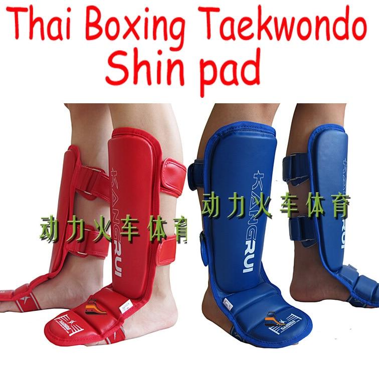 KangRui PU EVA Thai Boxing Taekwondo Leggings Calf Lower Leg Shin pad Instep protect protector training<br><br>Aliexpress