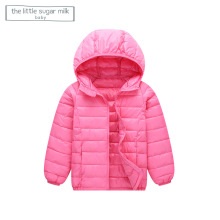 The Little Sugar Milk Baby 2017 Brand High Quality Kids Short Outerwear Clothing Baby Hooded Down Jacket China Supplier Hot Sale(China)