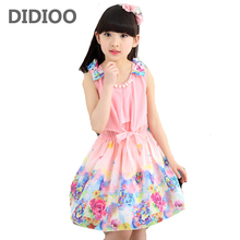 2017 New summer children clothing girls dress kids summer princess dress child dress chiffon summer dress for girls baby clothes(China)