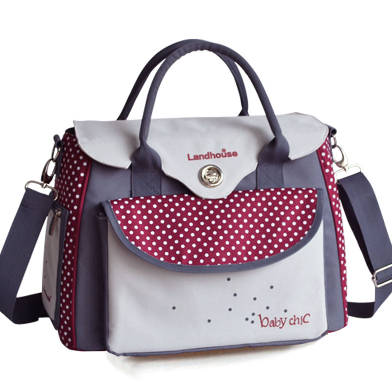 Bag For Baby Strollers Diaper/Nappy Mummy Travel Care bag Dot Maternity Expectant Pregnant Bag Women Messenger Shoulder Ladies<br>