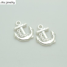 New Arrival 20 pcs/lot  Alloy Charms Pendant  Anchor silver plated 18*15 mm Jewelry Making DIY Charms Handmade Crafts 34178B