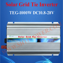 DC 10.8-28V to AC 100V 110V 120V 220V 230V 1000W Grid Tie Micro Solar Inverter With MPPT Function(China)