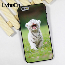 LvheCn phone case cover fit for iPhone 4 4s 5 5s 5c SE 6 6s 7 8 plus X ipod touch 4 5 6 Tiger Cub Roar Baby(China)