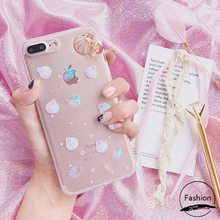 Buy Case iPhone X 8 7 6 6S Cover Korean Girly Clear 3D Shell Soft TPU Thin Bling Back Case iPhone 6 6S 7 Plus 8 Plus Cover for $3.69 in AliExpress store