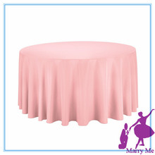 New 15pcs round table cloth plain table cloth casual table pink table cloth towel cover 100% cotton