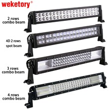 weketory 22 inch LED Bar LED Work Light Bar for Car Tractor Boat OffRoad Off Road 4WD 4x4 Truck Trailer SUV ATV(China)