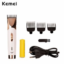 Kemei Electric Rechargeable Hair Clipper Shaver Razor Beard Trimmer Cutting Cutter Grooming Set Shaving machine for Men Styling