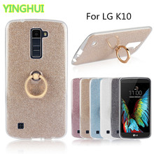 Buy LG K10 LTE K420N K430 K430ds F670 Case Flash powder 3D Relief Phone Case LG K10 tpu Silicone Soft Back Cover Ring for $2.74 in AliExpress store