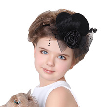 Fashion Baby Hair Clips Baby Bride Headdress Newborn Infant Small Hat Hairpin Photography Props Children Accessories(China)