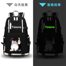 High Quality Anime My Neighbor Totoro Printing Backpack Canvas Kawaii School Bags Mochila Feminina Fashion Laptop Backpack(China)