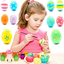 Buy 6pcs DIY Painting Easter Egg Rope Children Drawing Toys Home Decoration Plastic Hanging Easter Egg Kids Gifts Mixed Color for $1.01 in AliExpress store