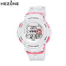 HEZONE Hot Boys/Girls Wristwatch Children's Watches Electronic Digital Watch Kids Military Sport Watch Waterproof Student Clock(China)