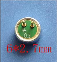 6027 6*2.7mm capacitive electret microphone mike Gold plated leg(China)