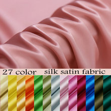 Free Shipping 16momme multicolor Pure Silk Charmeuse Satin Fabric 100 silk fabric(China)