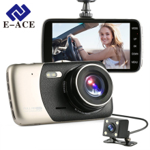 E-ACE 4.0 Inch Car Dvr Full HD 1080P Rear View Mirror With DVR And Camera Automovil Mini Dash Cam Dvrs Automotive Video Recorder(China)