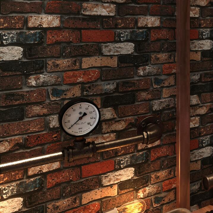 Chinese retro 3D brick wallpaper Brick pattern rural background wallpaper 3D Relief Mural Wall Paper<br>