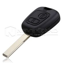 High Quality 2 Buttons Remote Key Shell for Peugeot 307 Car Keys Blank Key Cover Case with Groove Free Shipping D05
