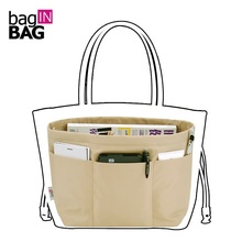 Bag in Bag Women Organizer Travel Pockets Handbag Heighten Style or Tote style Small styles 4 colors(China)