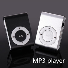 MP3 Music Media Mini Clip Metal USB Classic MP3 Player With Earphone Support Micro 108G SD TF Card Portable Audio Running Music
