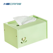 HECARE New DIY Tissue Holder Car Plastic Tissue Box Cover PVC Washable Napkin Holder for Home Office Cute Korean Style Wipes box(China)