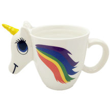 Unicorn MUGs 3D Colour Changing Unicorn Mug Novelty Cup Transformation Colors Tea&coffee&Water Bottle Cups Christmas Gifts(China)
