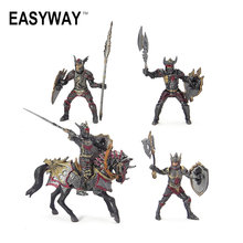 Easyway Dragon Night Action Figure Soldier Military Toys For Children Boys Model Plastic Horses Toys Middle Ages Figurine Arms
