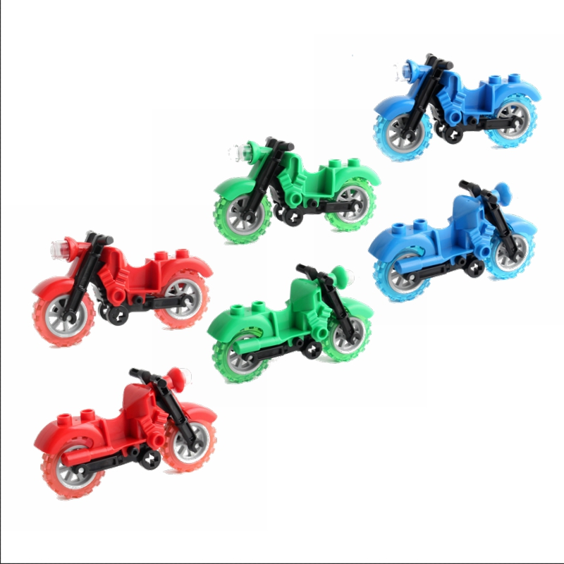 Legoing Duplo Car Toy Baby Gift Toys For Children Locking Bricks Building Blocks City Set Colorful Motorcycle Single Duploe Cars