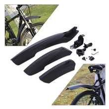Flectional Mountain Cycling Front Rear LED Mudguard Set Bicycle Durable Fenders With LED Light Plastic Bike Fender 4 colors