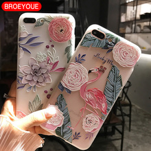 BROEYOUE Case For Xiaomi Redmi 4X 4A 3 3S 3X Note 4 4X 5A 3 3D Relief Silicone Case Flower Ultra Thin Matte Phone Cases Cover(China)