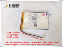 best battery brand 1PCS free shipping 3.7V 605080 lithium polymer batteries 3000MAH 7 inch Tablet PC battery batteries A product