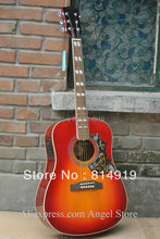41 inch sunburst hummingbird Acoustic Guitar with Fishman presys Pickups Acoustic Electric Guitar in stock